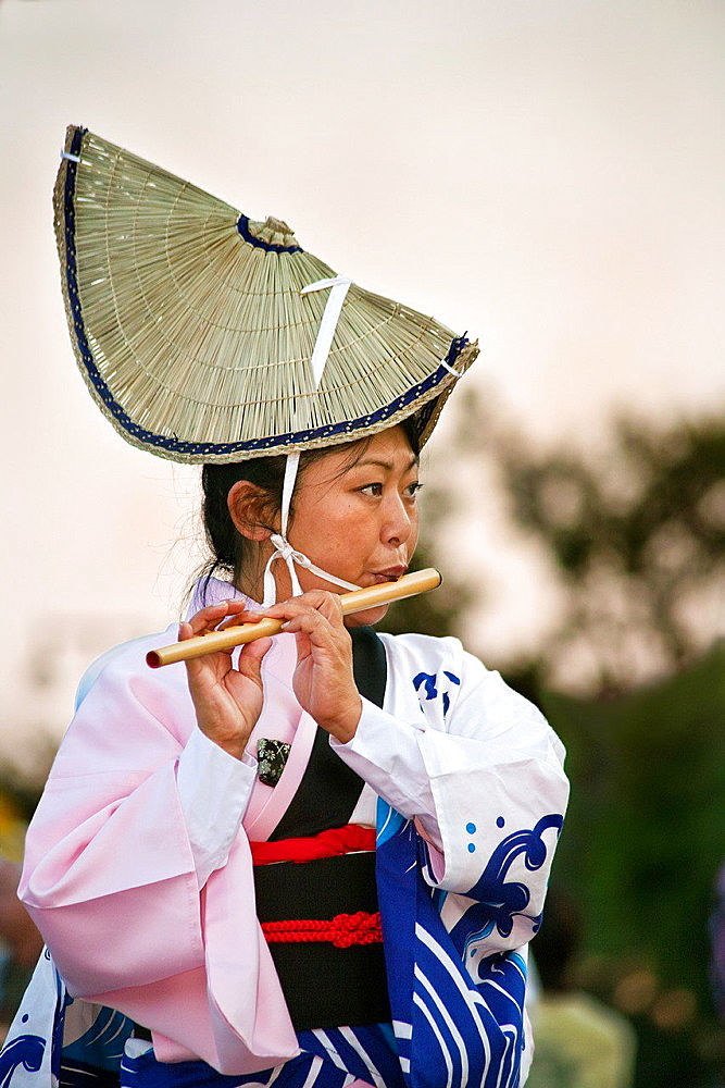 Japanese folk dancer_Nisei Week_Little Tokyo_Los Angeles.