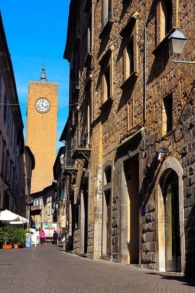 Torre del Moro, Old Town, Orvieto, Terni Province, Umbria, Italy