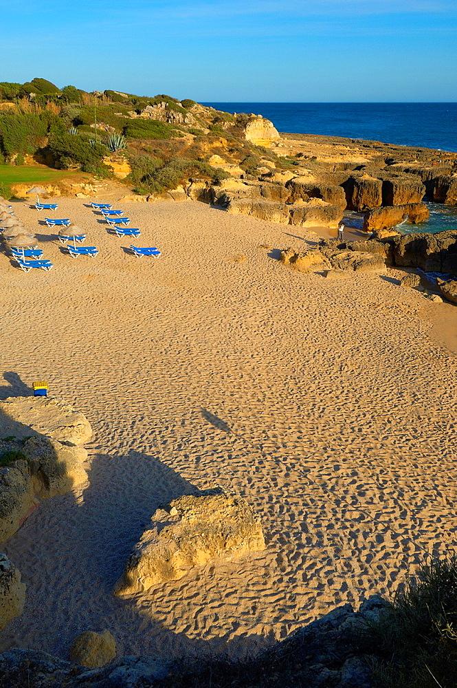Evaristo Beach, Praia do Evaristo, Albufeira, Algarve, portugal.