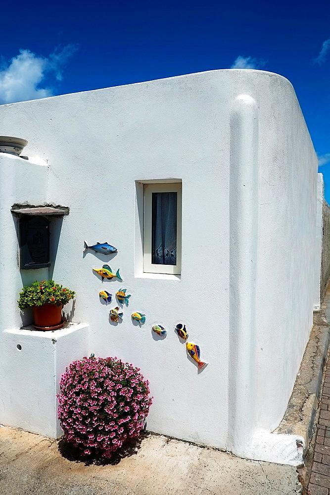 House in Stromboli, Sicily, Italy