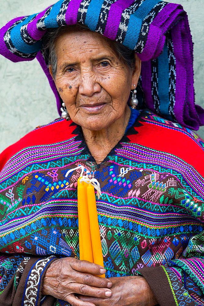 Maya woman, Poaquil, Guatemala - 817-452759