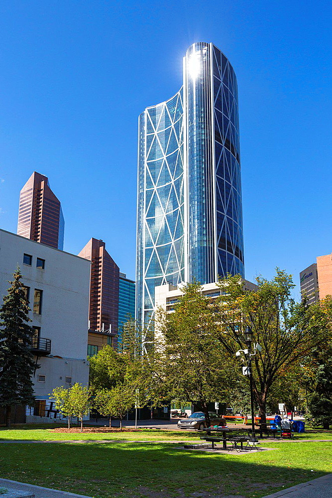 Skyscrapers and Bow Tower in Calgary, Alberta, Canada
