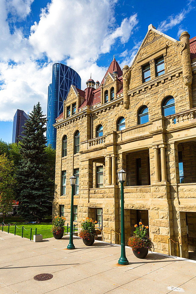 The picturesque city hall in Calgary, Alberta, Canada