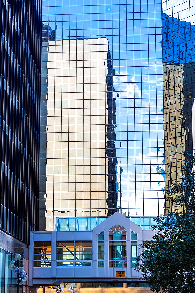 Modern architecture and skyscrapers, Calgary, Alberta, Canada
