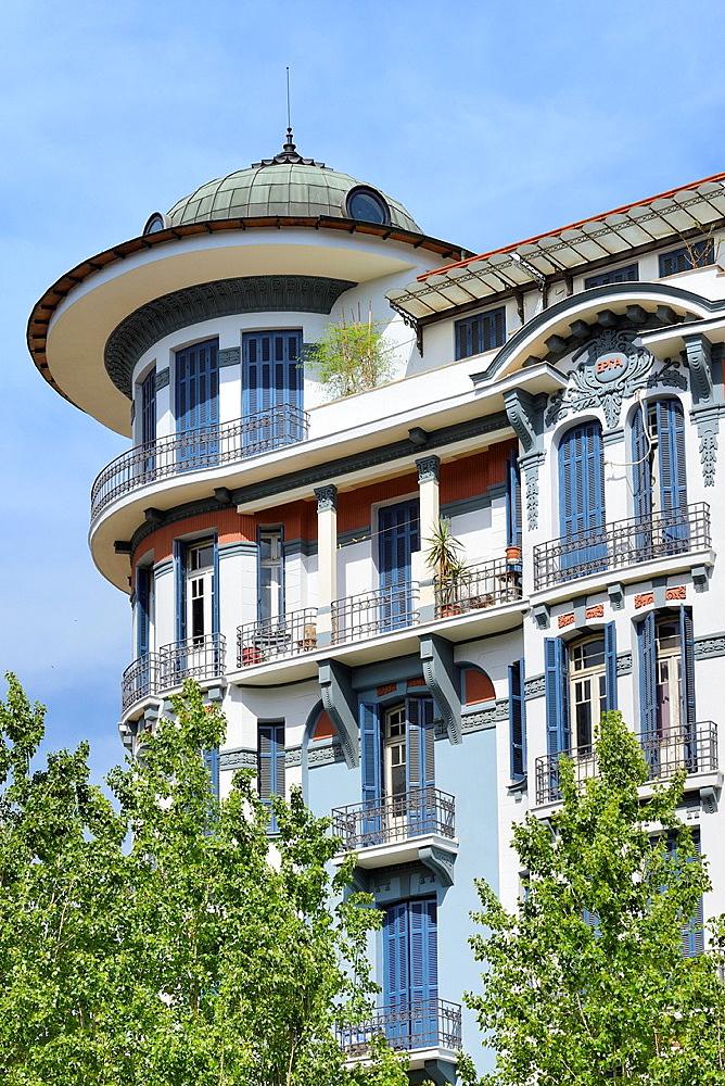 Greece, Central Macedonia, Thessalonik, Art Nouveau building