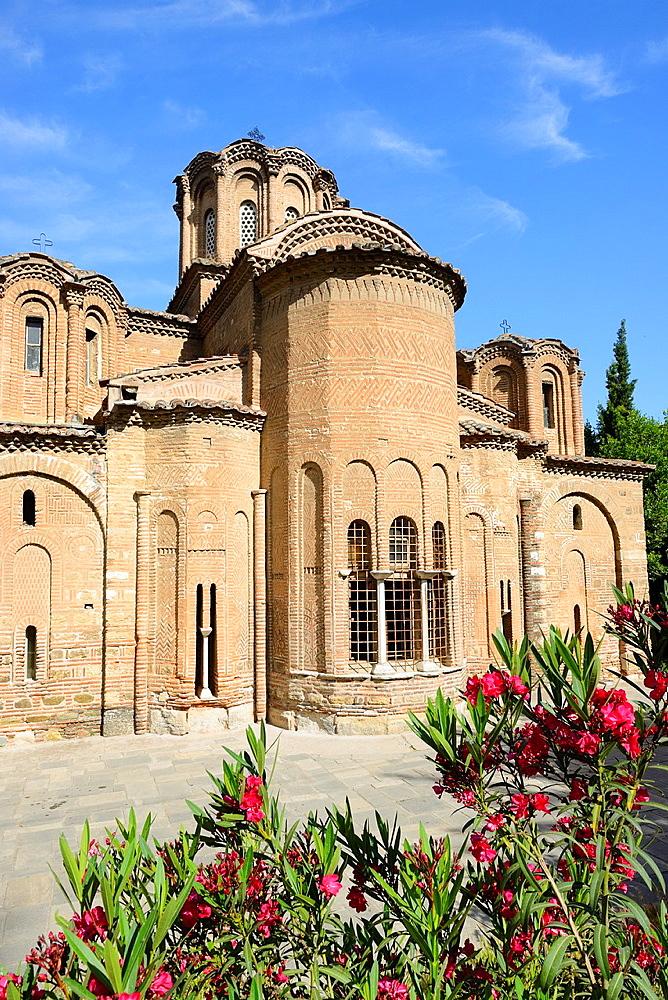 Greece, Central Macedonia, Thessaloniki, Agii Apostoli Holy Apostles church, listed as World Heritage 14th C