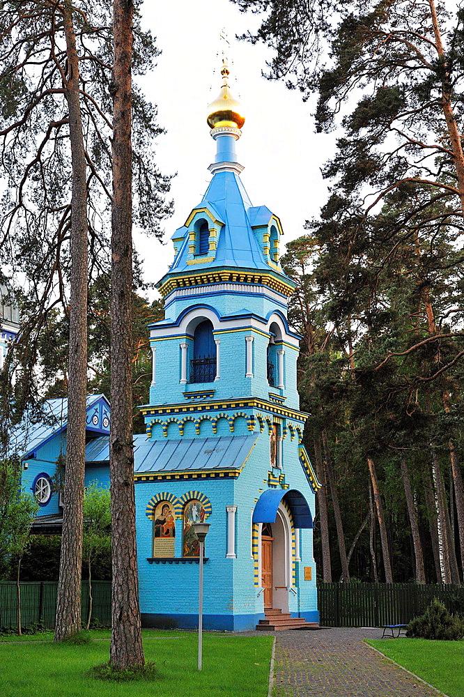 orthodox church at Majori, Jurmala, Gulf of Riga, Latvia, Baltic region, Northern Europe.