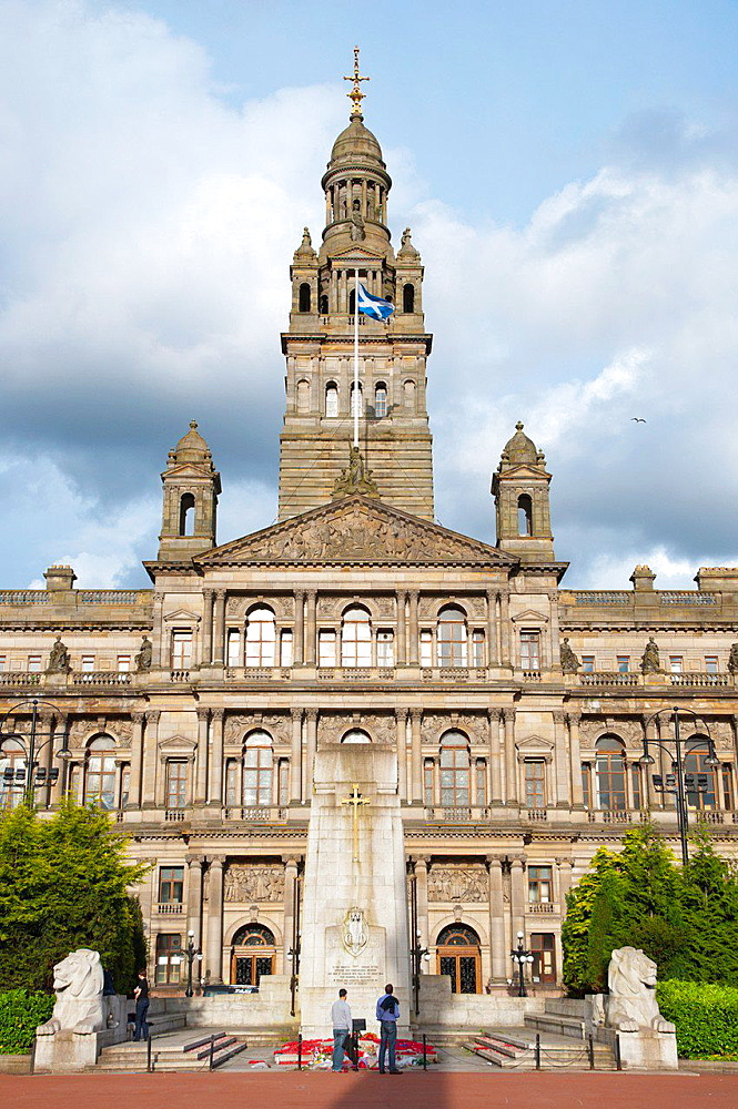 Victorian era Glasgow City Chambers town hall (1888) George Square central Glasgow Scotland Britain UK Europe.