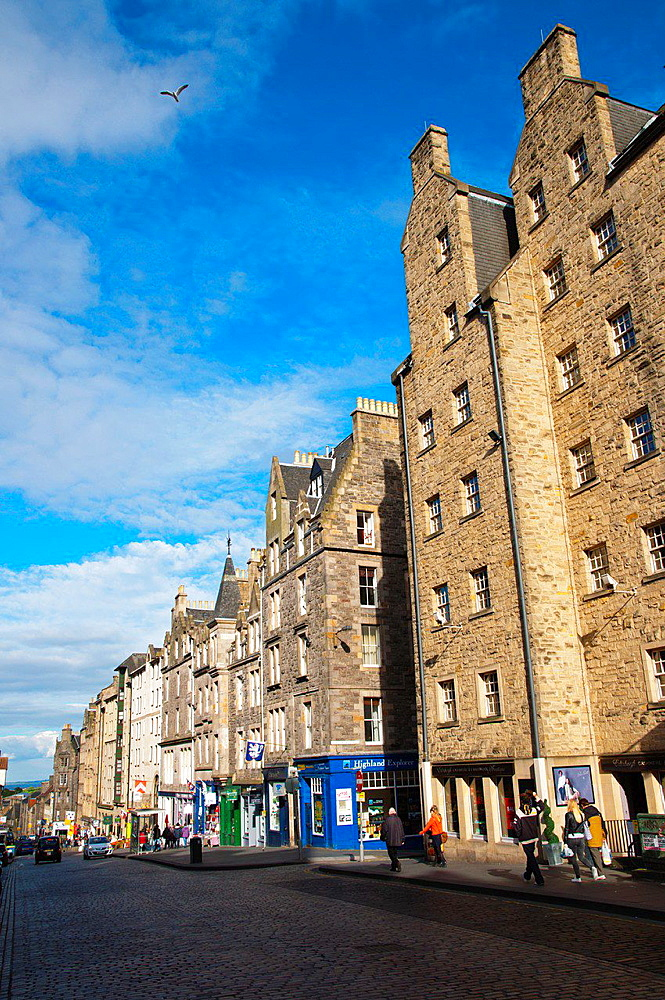 High Street Royal Mile old town Edinburgh Scotland Britain UK Europe.