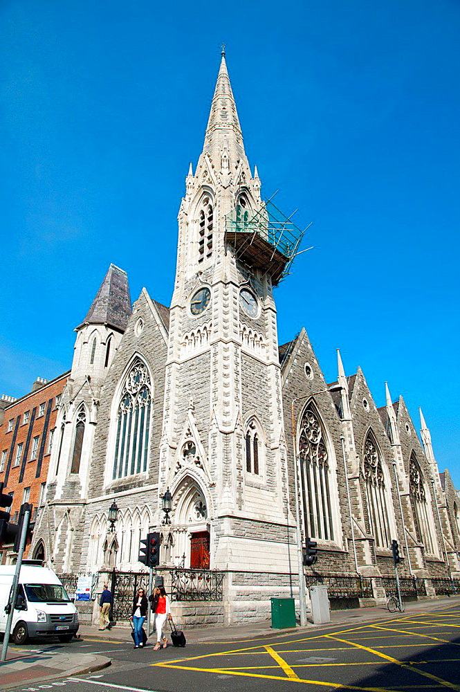 Findlater's church aka Abbey Presbyterian Church under construction Northside of Dublin Ireland Europe.