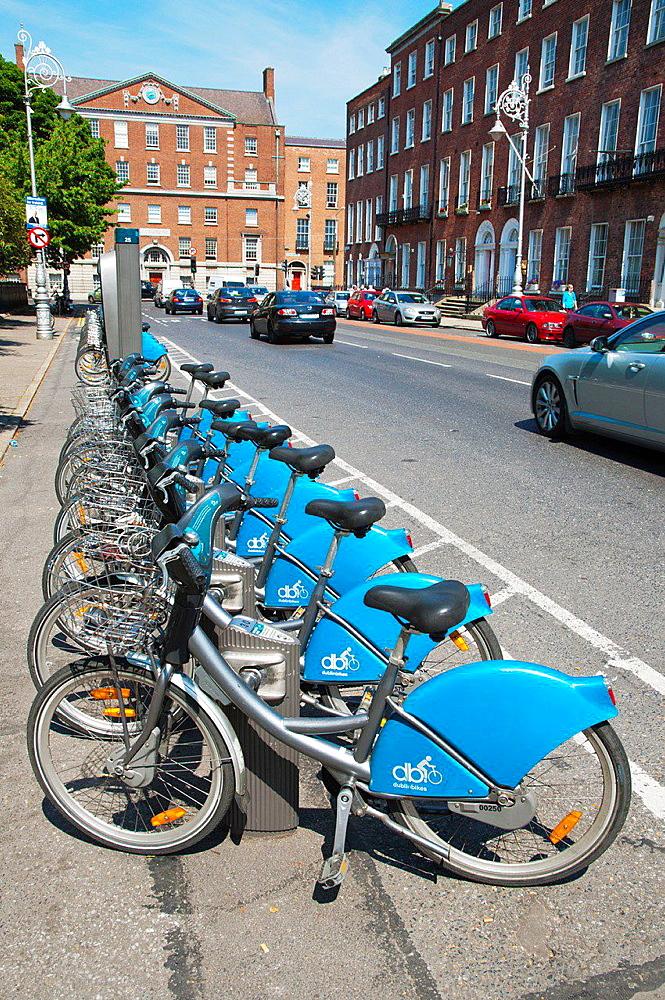 Dublinbikes bicycle scheme point Merrion Square central Dublin Ireland Europe.