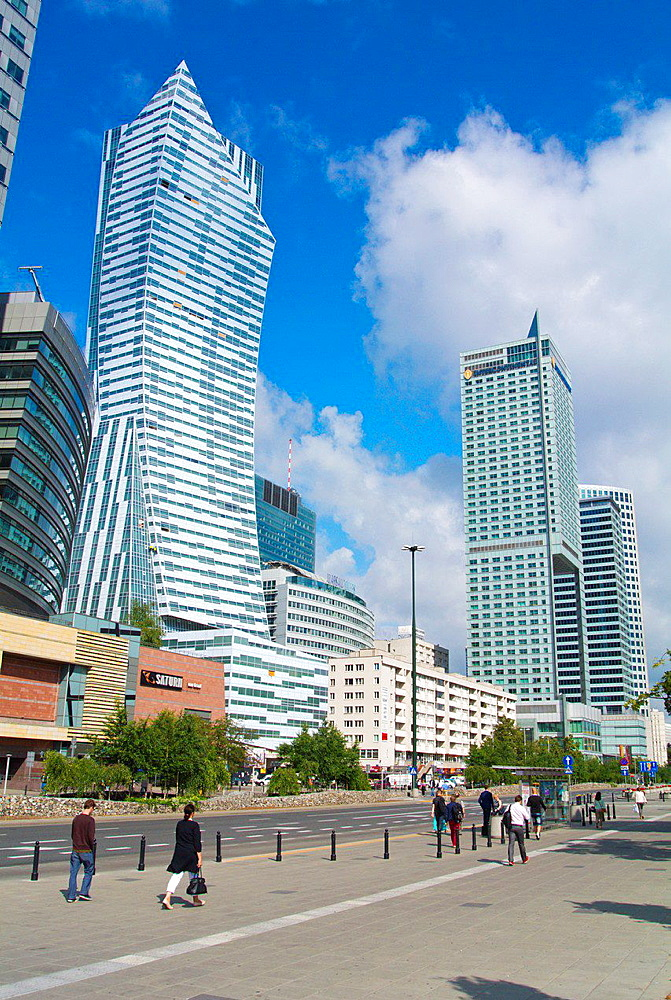 Emilii Plater street central Warsaw Poland Europe.
