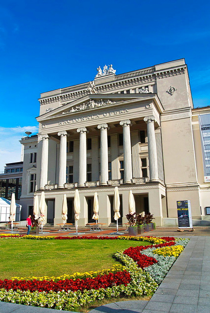 National Opera building central Riga Latvia the Baltic States northern Europe.