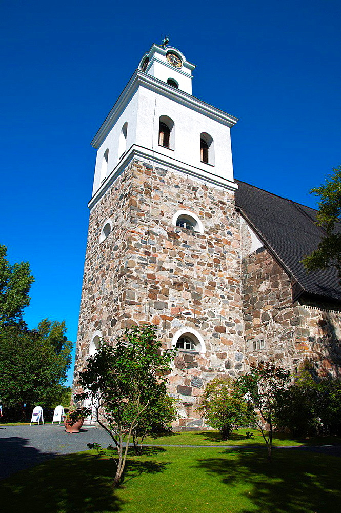 Rauman Pyha§n Kristin kirkko the Church of the Holy Cross (1520) central Rauma western Finland northern Europe.