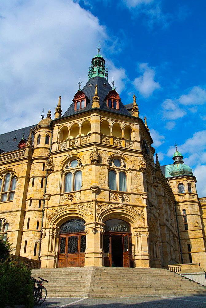 Severoceske muzeum housed in neo-renaissance style building Liberec north Bohemia Czech Republic Europe.