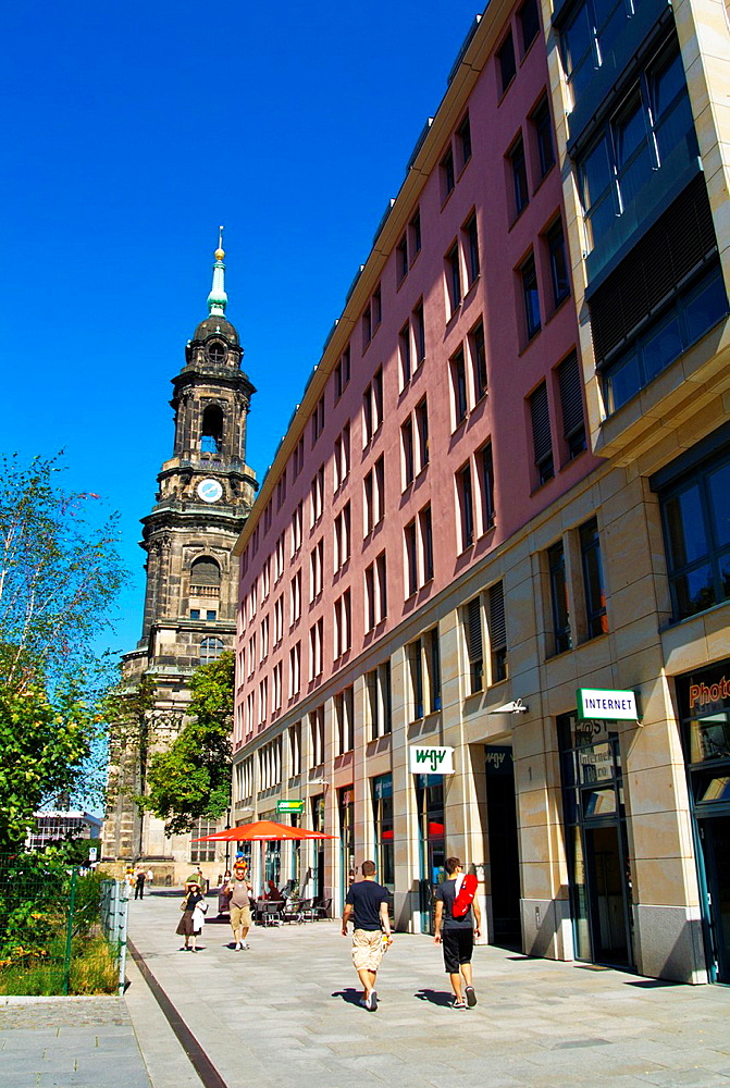 Pfarrgasse street Altstadt the old town Dresden city Saxony state eastern Germany central Europe.