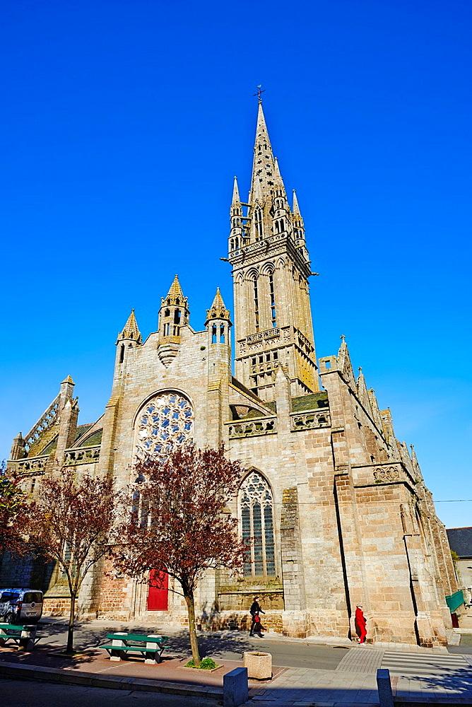 France, Briitany, Finistere, Saint Pol de Leon, Kreisker church.
