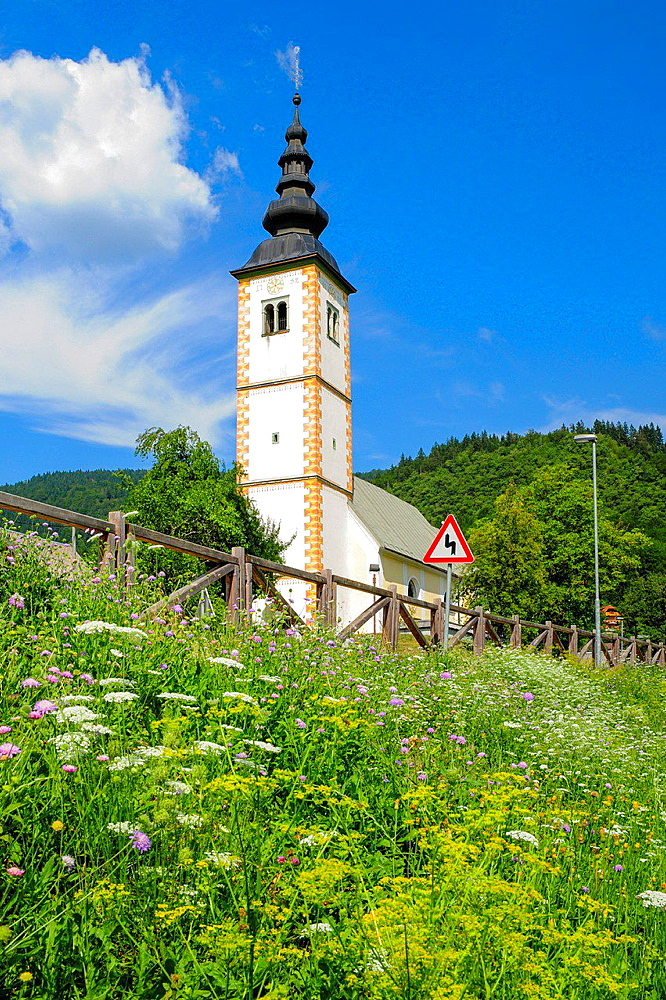 church, Slovenia, national park Triglav, Jereka.