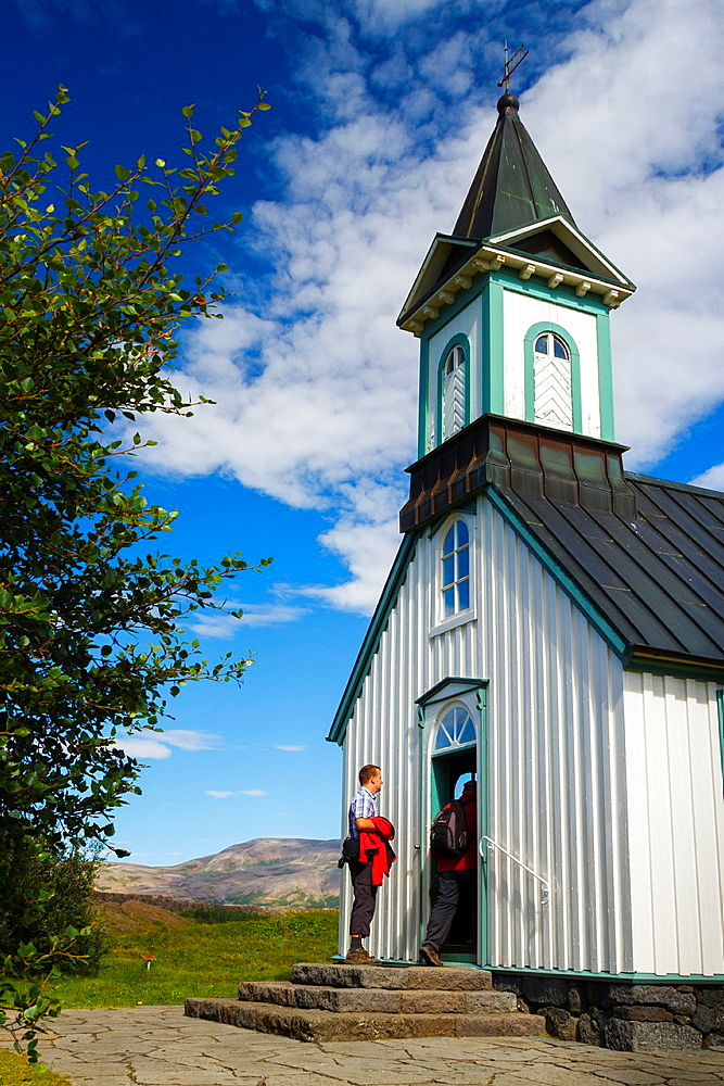 Thingvellir church. Pingvellir National Park. Golden Circle. Iceland, Europe.