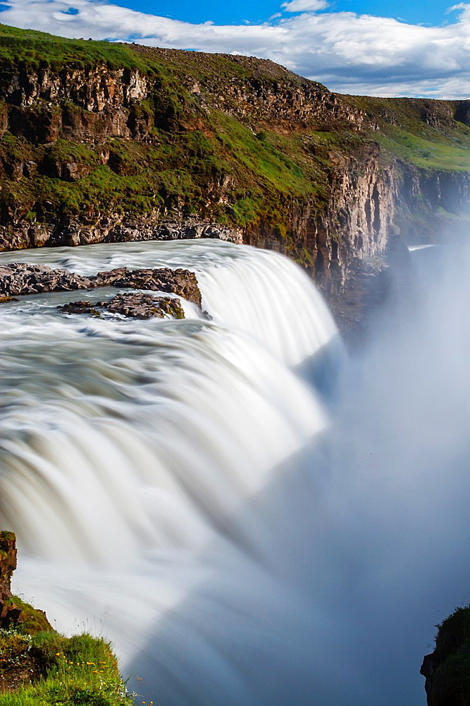 Gullfoss waterfall. Golden Circle route. Iceland, Europe.