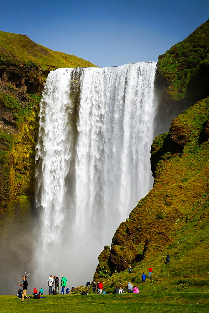 Skogafoss waterfall. Iceland, Europe.