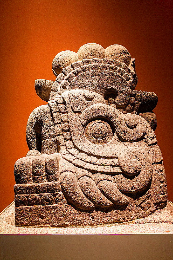 Xiucoatl, Azteka hall, National Museum of Anthropology. Mexico City. Mexico.