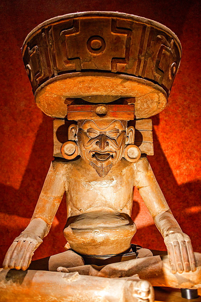 Dios Viejo', old god, National Museum of Anthropology. Mexico City. Mexico.