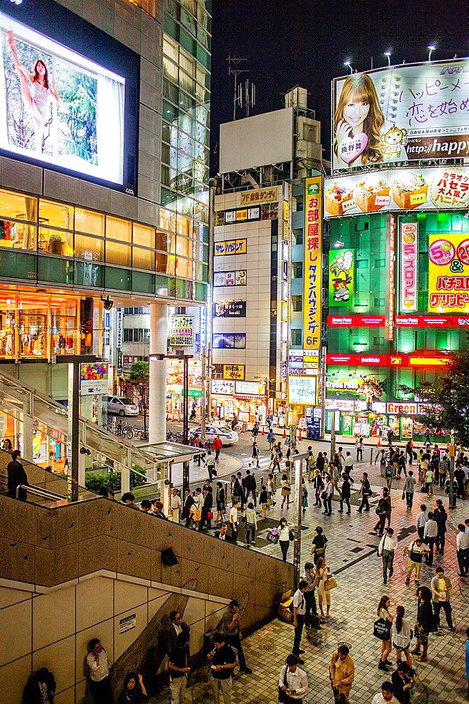 west exit of Shinjuku JR station.Shinjuku.Tokyo city, Japan, Asia.