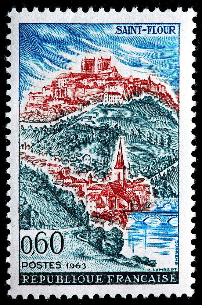 Saint Flour, postage stamp, France, 1963