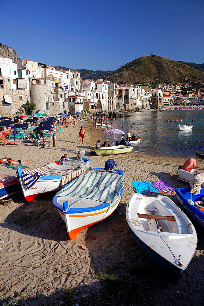 View of Cefalu, Sicily, Italy.