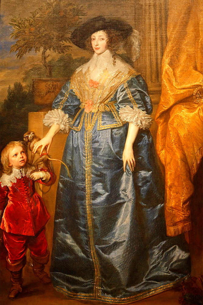 Queen Henrietta Maria by Van Dyck, National Gallery of Art, Washington D.C., USA.