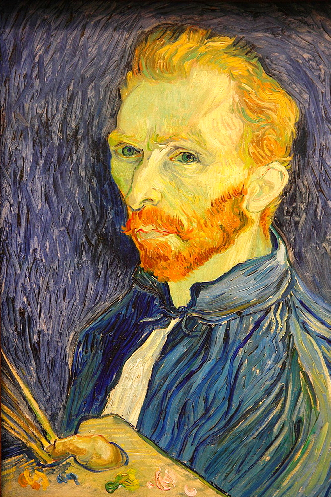 Selfportrait by Van Gogh, National Gallery of Art, Washington D.C., USA.
