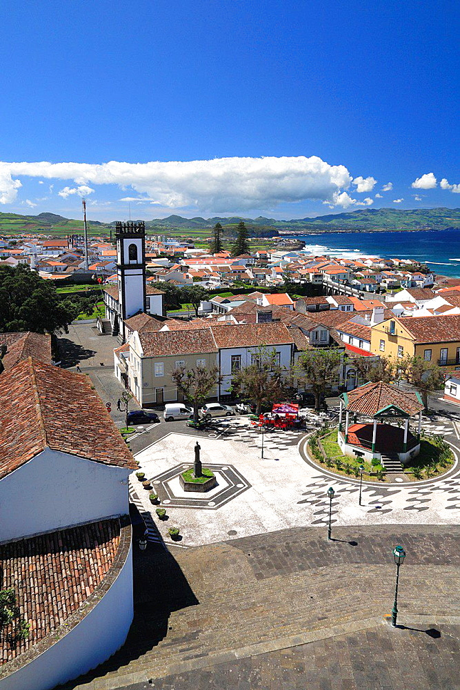 The city of Ribeira Grande on the island of Sao Miguel, Azores islands, Portugal.