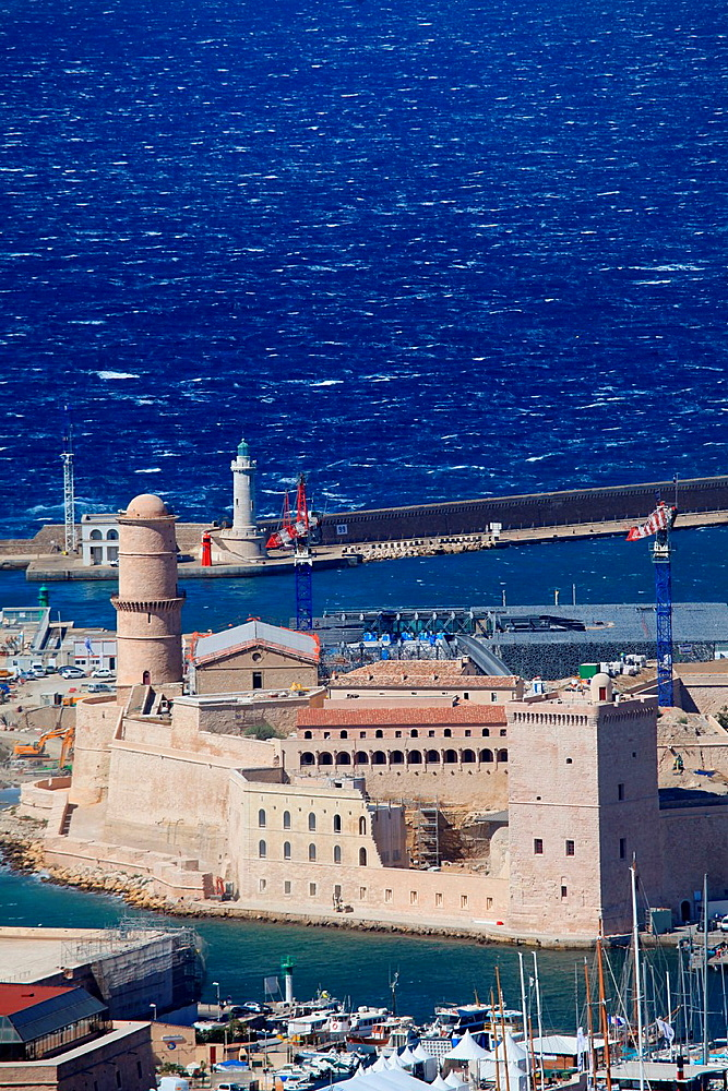 The Fort Saint Jean in Marseille, Bouches du Rhone, 13, Paca, France