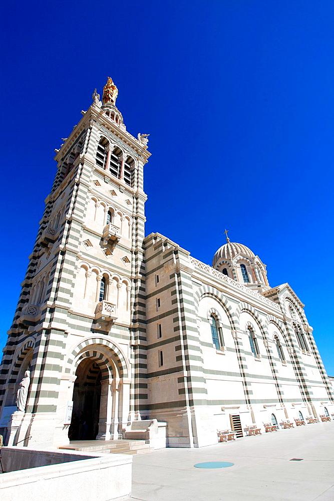 The Notre Dame de la Garde church, Marseille, Bouches du Rhone, Provence-Alpes-Cote d¥Azur, France