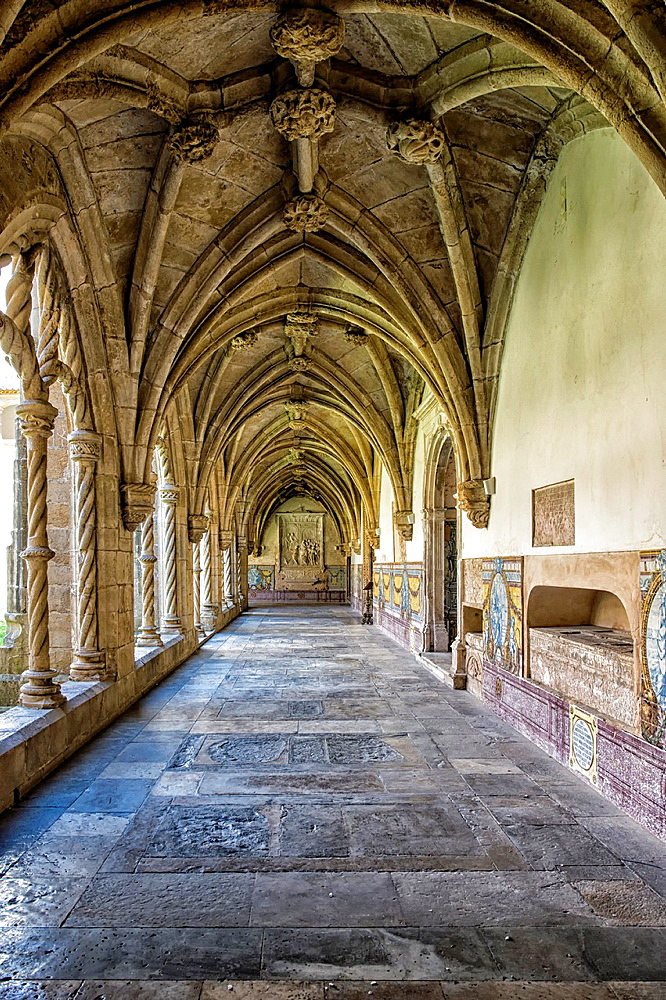 Santa Cruz Monastery, Cloister, Coimbra old city, Beira Province, Portugal, Unesco World Heritage Site.