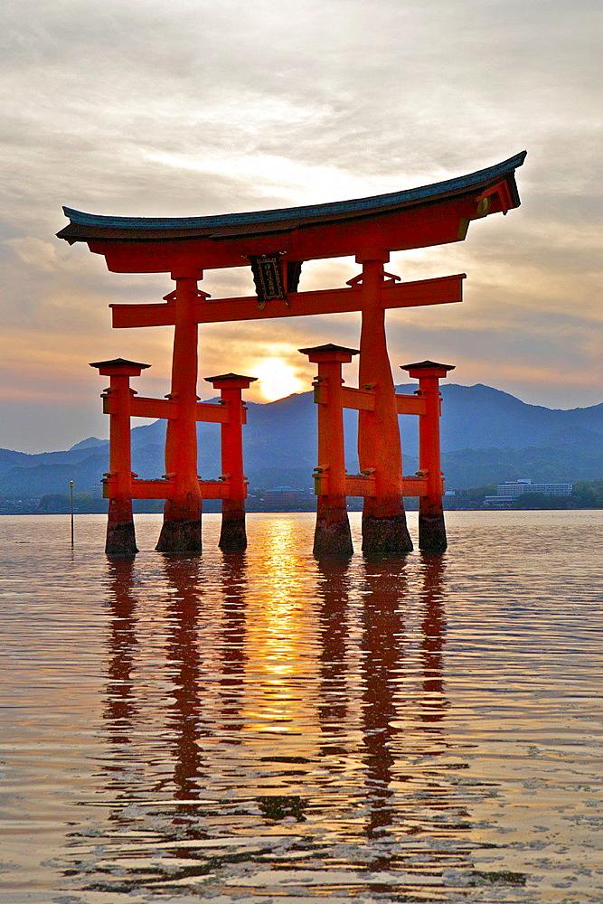 Itsukushima Shinto Shrine on the Island of 'Miyajima'. Japan