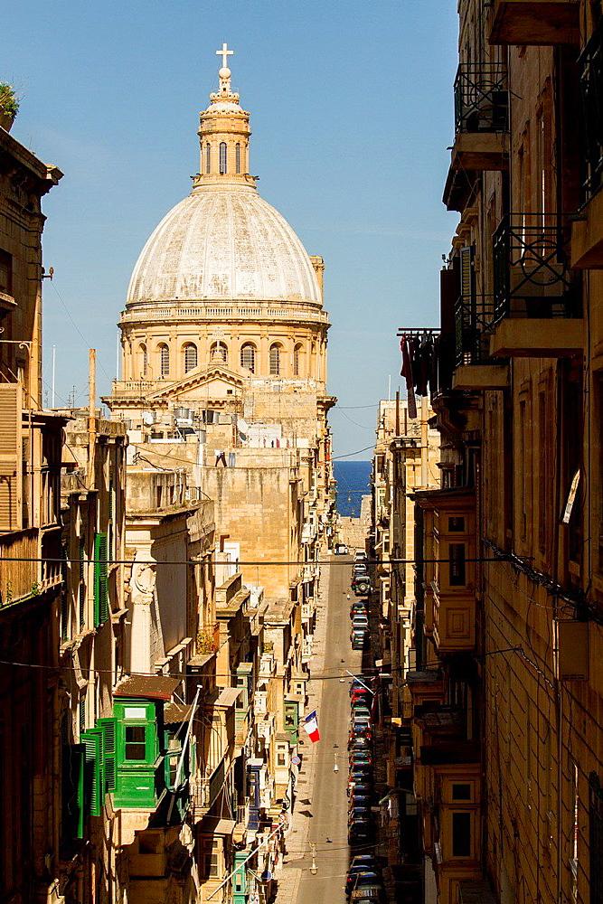 Old mint street, Valletta, Malta.