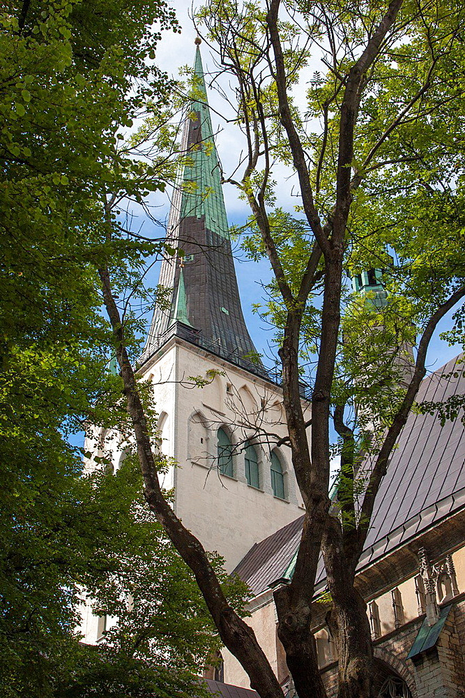 St. Olafís church Oleviste kirik, Old Town, Tallinn, Harju, Estonia