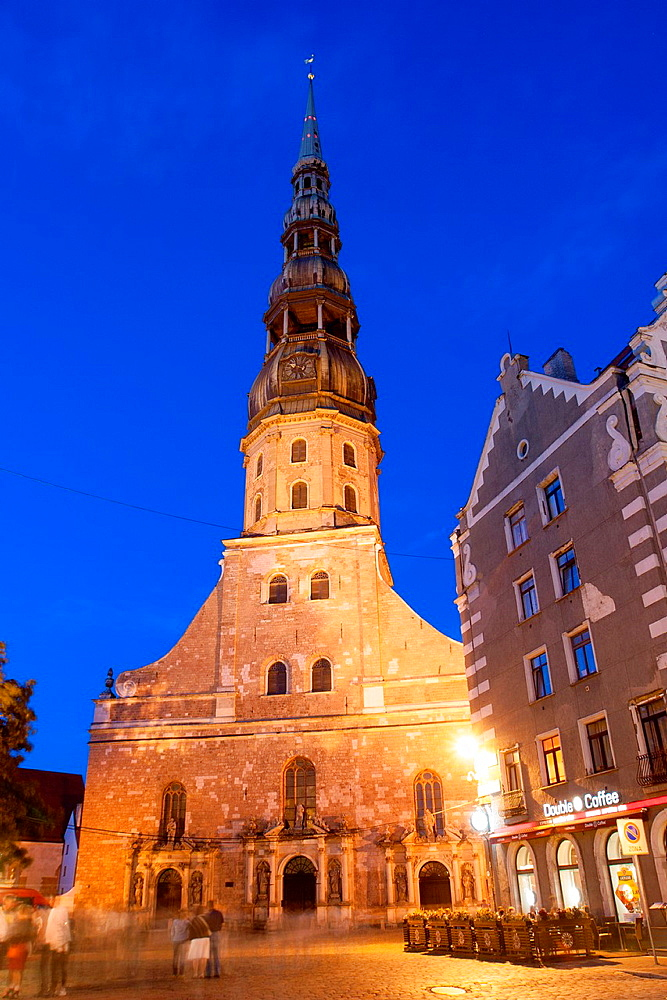 St. Peter Church, Riga, Latvia.