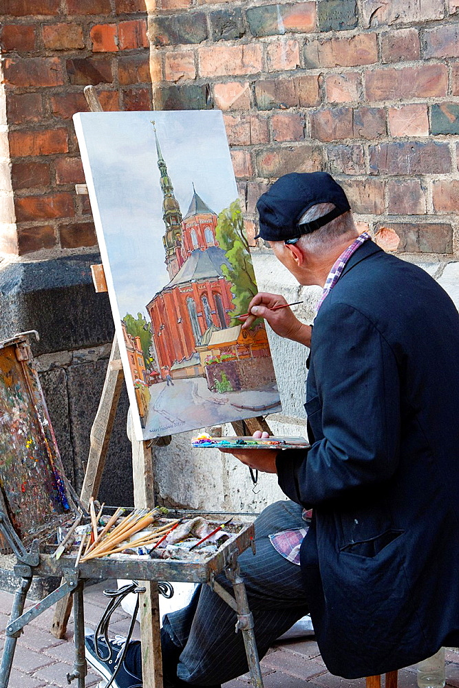 Painter, Riga, Latvia.
