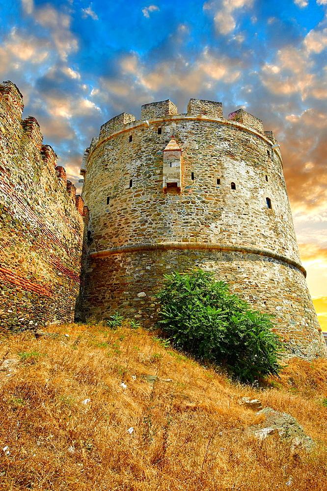 Byzantine Walls of Thessaloniki, Greece. A UNESCO World Heritage Site.