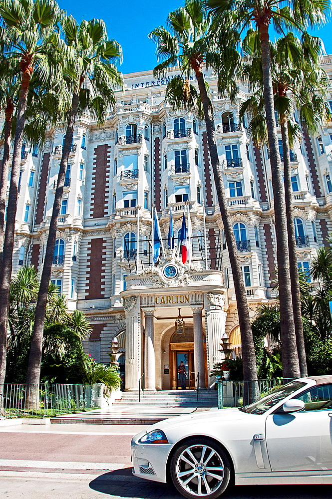 Europe, France, Alpes-Maritimes, Cannes. The famous Carlton Hotel Palace.