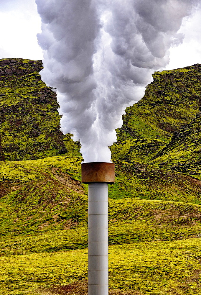 Hellisheidi Geothermal Power Plant, Iceland.