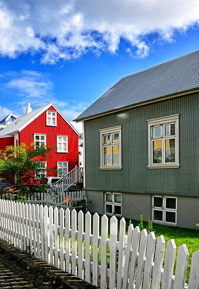 typical houses in Reykjavik, Iceland.