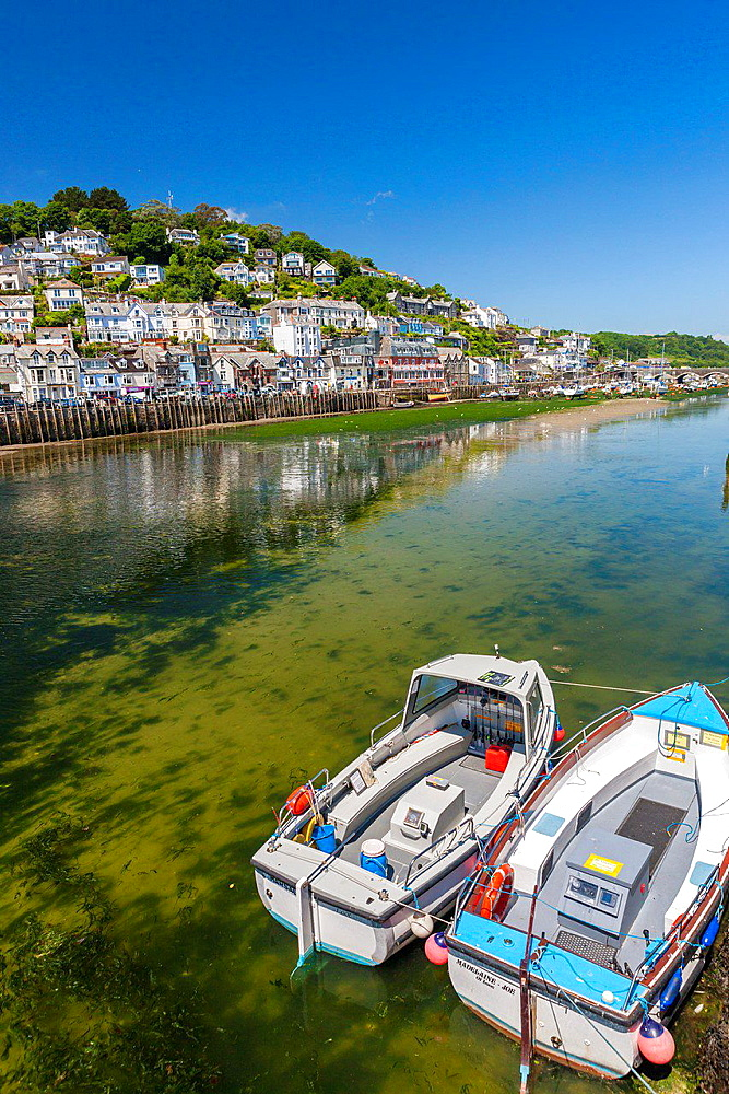 The harbour in Looe in Cornwall, England, United Kingdom, Europe.