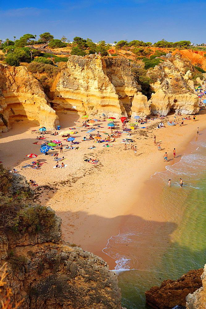 Algarve coast near Albufeira, Portugal.