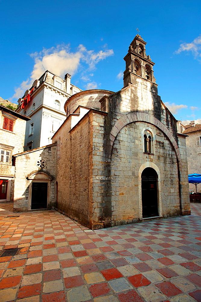 St Luke church, St Lukes Square, Kotor Montenegro.