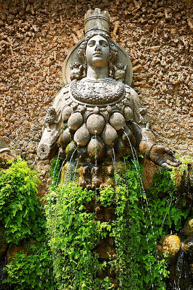 The fountain of Aphrodite of Ephesus, Villa d'Este gardens, Tivoli.
