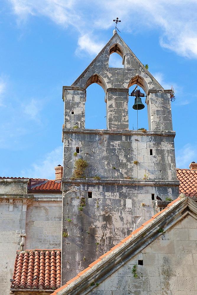 bell tower of monastery Sveti Ivan Krstitelj, Trogir, Croatia.